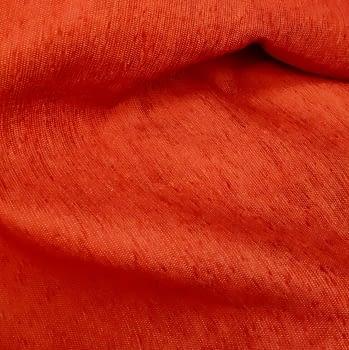 Tela chenilla rojo bermellón - 1