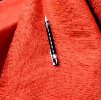 Tela chenilla rojo bermellón - 2