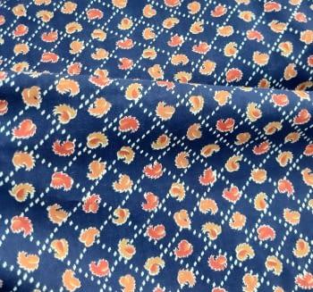 Tela viella hojas naranja 80