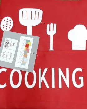 Delantal rojo cooking - 1