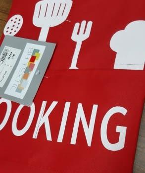 Delantal rojo cooking - 2