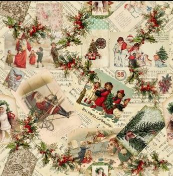 Tela Navidad vintage 280