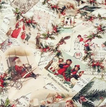 Tela Navidad vintage 280 - 1