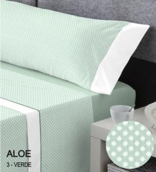 Juego sábanas topos verdes
