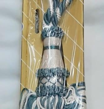 Abrazadera cordón azul y blanco - 1
