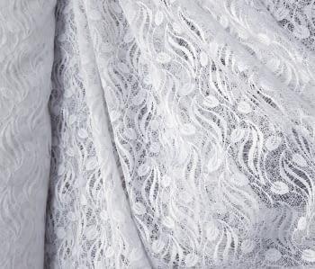 Tela encaje blanco hojitas 270 - 5