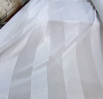 Tela visillo blanco franjas multirayas 300