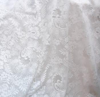 Tela visillo encaje delicado blanco