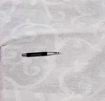 Tela visillo adamascado blanco roto 300 - 3