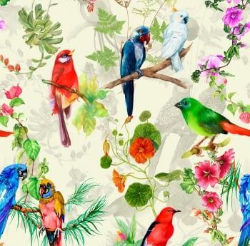 Tela loneta aves del paraíso 280