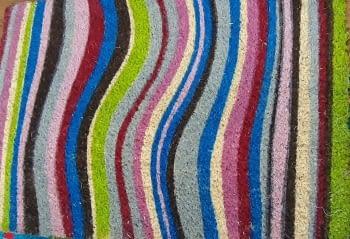 Felpudo rayas colores 40 x 60