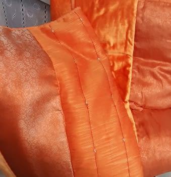 Buti edredón raso Naranja