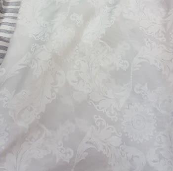 Tela visillo adamascado blanco 300 - 1