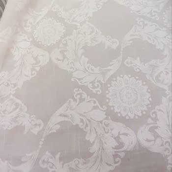 Tela visillo adamascado blanco 300 - 6