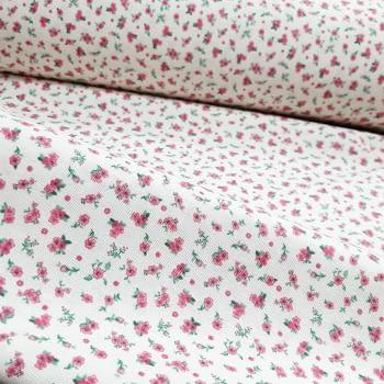 Tela loneta florecitas rosas 280