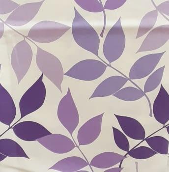 Tela loneta hojas morada 70 x 280