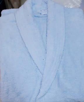 Albornoz azul celeste XL