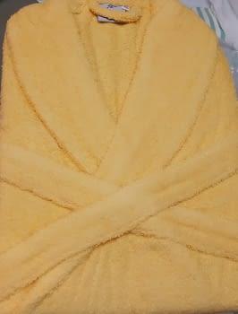 Albornoz rizo amarillo XL