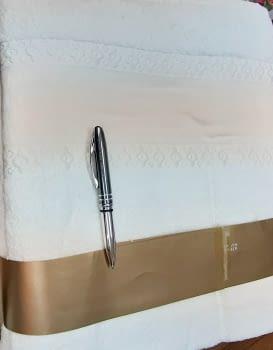 Juego 3 toallas beige punto cruz - 1