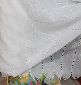 Tela visillo confeccionado bordado alto 150