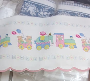 Greca infantil tren rosa - 1