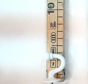 Alzapaño metal blanco 4 cm - 2