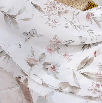 Tela visillo mariposas rosas 280
