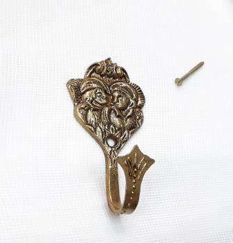 Alzapaños Amantes de Teruel dorados 8,5 cm