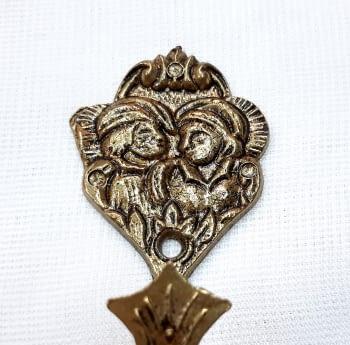 Alzapaños Amantes de Teruel dorados 8,5 cm - 1