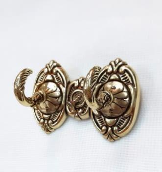 Alzapaño doble dorado 7,5 cm