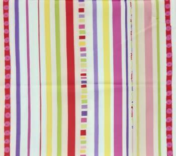 Tela rayas multicolor 80 x 280 cm