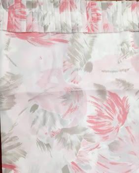 Cortina baño flores rosa 145 x 180 cm