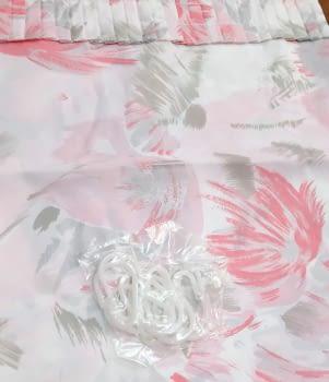Cortina baño flores rosa 145 x 180 cm - 2