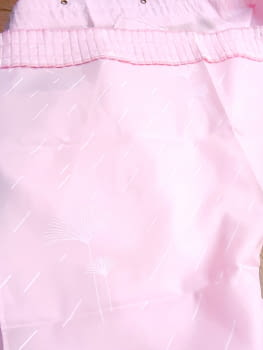 Cortina baño palmitos rosa 145 x 180 - 1