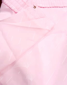 Cortina baño palmitos rosa 145 x 180 - 2