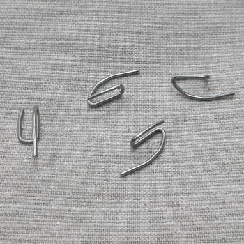 10 Ganchitos cortinas metal percha - 4