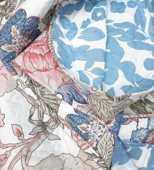Colcha bouti flor oriental  cama 90 - 1
