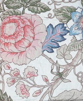 Colcha bouti flor oriental  cama 90 - 2