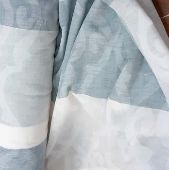 Tela visillo adamascado rayas azul 300 - 2