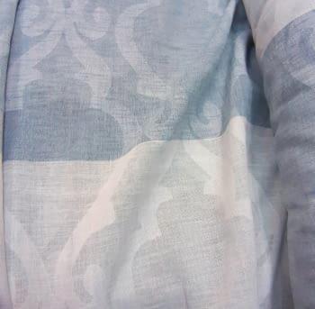 Tela visillo adamascado rayas azul 300 - 3
