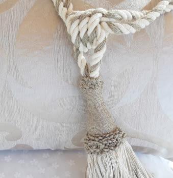 Abrazadera cordón tostado - 1