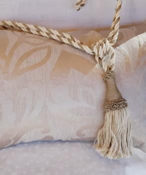 Abrazadera cordón tostado - 2