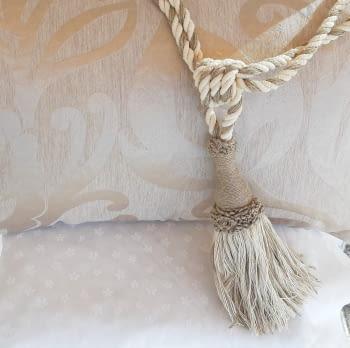 Abrazadera cordón tostado - 3