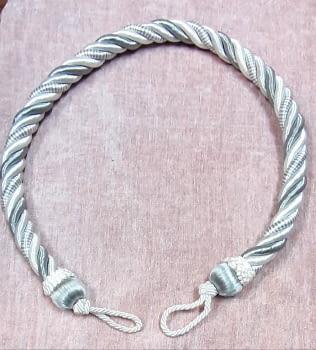 Cordón abrazadera gris brillo