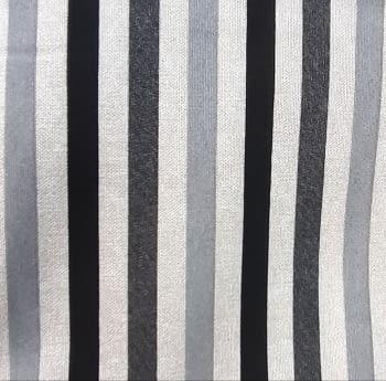 Tela loneta rayas gris negro 280 - 4