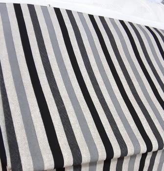 Tela loneta rayas gris negro 280 - 5