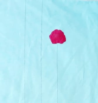 Tela turquesa flor rosa 280