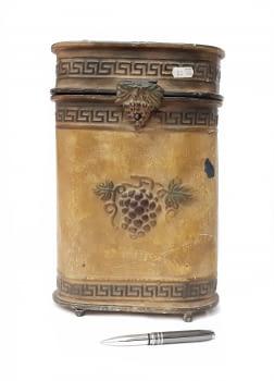 Caja vintage portabotellas