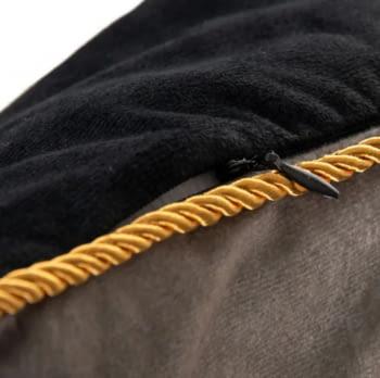 Cojín terciopelo garzas teja 45 x 45 - 2