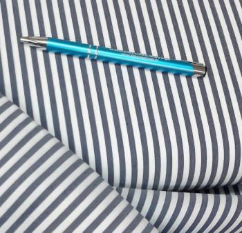 Tela vichy rayas azul marino